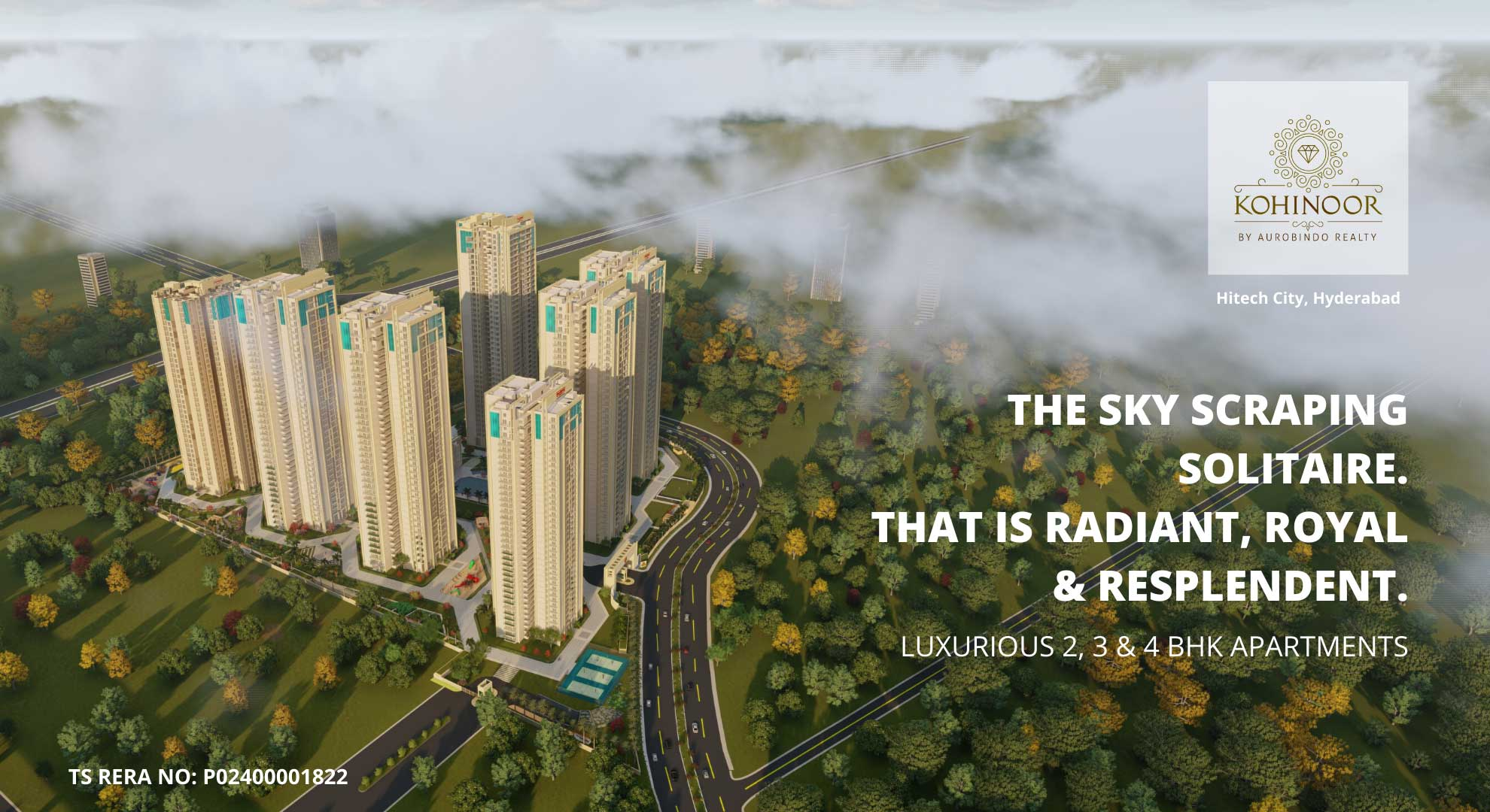 Kohinoor By Aurobindo Realty - Flats in Hitech City